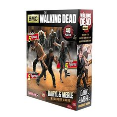 Five buildable figures, which include two humans and three Walker figures inspired by AMC's The Walking Dead television series | Includes Merle Dixon, Daryl Dixon, Military Walker, Business Walker, and Police Walker Figures | Total piece count for set is 40 pieces | Figures stand 2 inches tall | All figures are unique and not available in construction sets. Pieces are compatible with other construction brands | Imported from the USA.