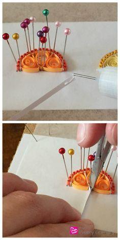 QuillingPaperOrangeMiniWedge How to Make Quilling Paper Citrus Slices