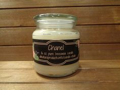 16 oz pure beeswax scented candle.