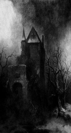 Bildresultat för Art: Fantasy: Romantic: The Dark Side Dark Fantasy Art, Dark Art, Spooky Places, Haunted Places, Dark Gothic, Gothic Art, Creepy Art, Scary, Dark Castle