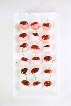 Chocolate dipped cherries.