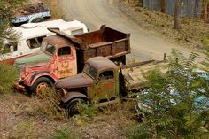 end of the road for these old trucks