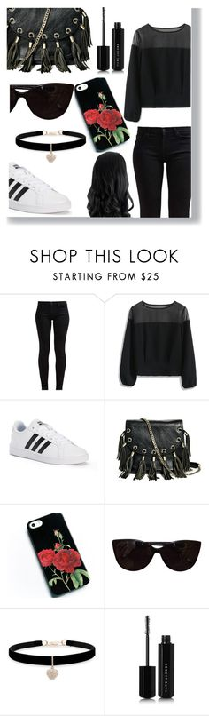 """""""emo"""" by rosieunicorn ❤ liked on Polyvore featuring 7 For All Mankind, Chicwish, adidas, GUESS by Marciano, Tiffany & Co., Betsey Johnson and Marc Jacobs"""