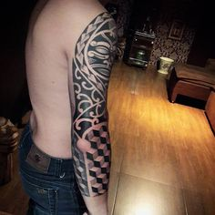 Geometric/maori themed sleeve