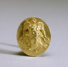"""theancientwayoflife: """"~ Ring with the Head of Athena. Date: 3rd century B.C. Period: Hellenistic Medium: gold Place of origin: Greece """""""