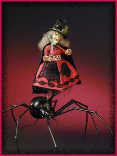 "Creager Studios - ""Herero Woman"" Spider Riding little Witch"