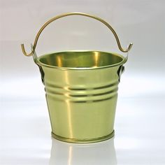 """2"""" Galvanised Pail With Handle Gold - DISC.CF228GL"""