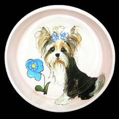 Client Order: Biewer Dog Bowl