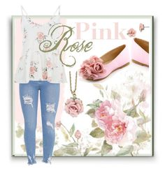 """""""Pink roses set"""" by caro22line34 on Polyvore featuring 1928"""