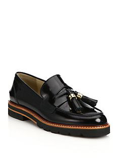 Stuart Weitzman - Manila Patent Leather Platform Oxfords