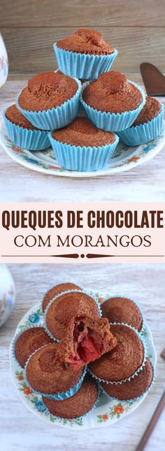 Try these delicious chocolate muffins with strawberries! Who doesn't like the fusion of these two ingredients? These muffins are prepared in a very. Muffin Recipes, Apple Recipes, Breakfast Recipes, Food Cakes, Delicious Chocolate, Chocolate Recipes, Chocolates, Strawberry Muffins, Chocolate Powder