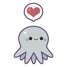 Cute Blue Octopus