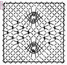 Pour ce 24ème carré, Dominique vous propose d'utiliser le fond triangle, l'araignée sur un fond torchon