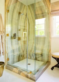 "Two ""Traditional"" Spaces That Caught My Eye #shower"