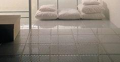 Glazen badkamervloer