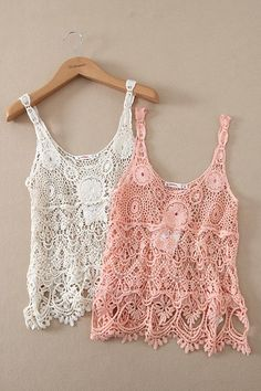 Best 2014summer Tops Women Hand Knit Crochet Tank Hollow Embroidery Lace Vintage Boho Beach Cover Up Swim Wear Streetwear Online with $9.22/Piece | DHgate