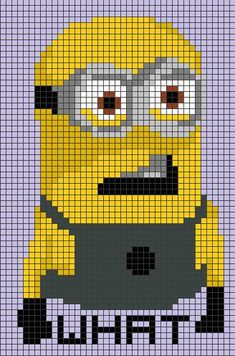 Minion Perler Pattern by LizzyLucky