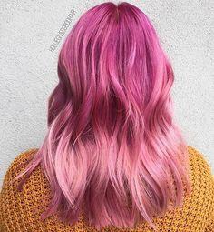 Pink lady  #regram @holliegivesgoodhair #americansalon