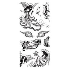 """Angels Inkadinkado Clear Stamps 4""""X8"""" Sheet ICCSO-99521 - Stamps"""