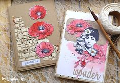 Cards with watercolor poppy flowers... Hello again!   This time I have for you some cards with watercolor poppy flowers, made for ScrapArt.cz .     LSG Starburs...
