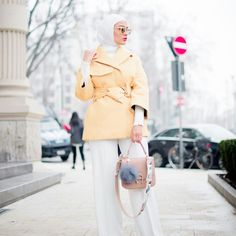 Omg ‼️ it's amazing Hijab Outfit, Hijab Fashion, Coat, Jackets, It's Amazing, Outfits, Clothes, Style, Photos