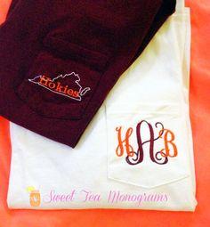 Hokie shirts from Sweet Tea Monograms