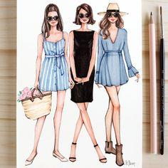 Style of Brush by Gizem Kazancıgil gizem kazancigil – People Drawing Fashion Design Sketchbook, Fashion Design Drawings, Fashion Sketches, Drawing Fashion, Moda Fashion, Fashion Art, Girl Fashion, Fashion Outfits, Dress Illustration