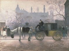 Adolphe Valette, 1911, Old Cab at All Saints. Manchester
