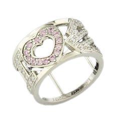Harley-Davidson® I Heart B Silver Ring