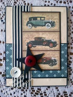 I have this paper; what a great way to use it for masculine cards.