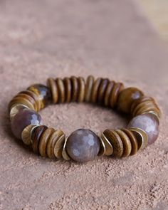 The Sydney Bracelet - interestingly enough, it's made with Yak Bone, Moonstone, and Tiger's Eye Beads