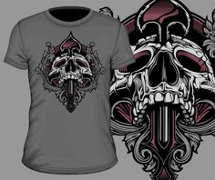 t-shirt design in vector