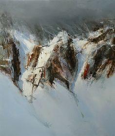 The Mountain II by Tibor Nagy Oil ~ 27.5 x 23.6