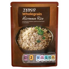 #Tesco! Wholegrain Microwave Rice.