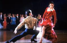"""Strictly Ballroom - I still adore this movie! """"Eso no es paso doble!"""" One of my favorites! Dance Comp, Just Dance, Ballroom Dancing, Ballroom Dress, Samba, Glasgow Film Festival, Film Musical, Musical Theatre, Baz Luhrmann"""