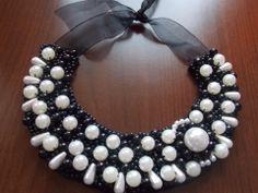 www.arminbijuterii.ro Collar Necklace, Pearl Necklace, Beaded Necklace, Pearls, Jewelry, Strand Necklace, Beaded Collar, Jewellery Making, String Of Pearls