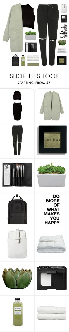 """""""love in the dark"""" by flying-baby-unicorn ❤ liked on Polyvore featuring Club L, Topshop, Bobbi Brown Cosmetics, Sephora Collection, Fjällräven, Mossimo, Frette, NARS Cosmetics, Archipelago Botanicals and Linum Home Textiles"""