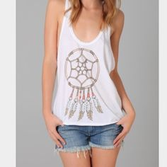 Wild fox Dream Catcher Tank Sz M Super cute and classic! In amazing condition! Racer bank tank! size medium Wildfox Tops Tank Tops