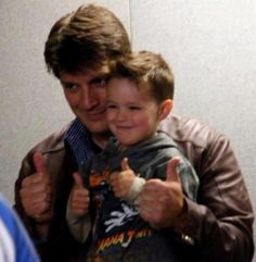 Oh my goodness. Beautiful. I can see it now. That child playing beckett and castle's kid :) hehe