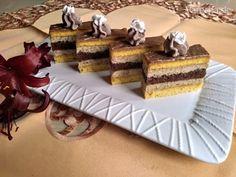 Orechové rezy s orechovým likérom (fotorecept) - Recept Czech Recipes, Ethnic Recipes, Nutella, Tiramisu, Rolls, Sweets, Cooking, Hampers, Dios