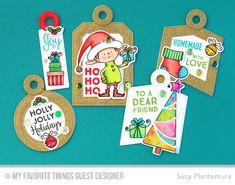 Santa's Elves, Gift Tag Greetings, Santa's Elves Die-namics, Tag Builder Blueprints 4 Die-namics - Suzy Plantanura  #mftstamps