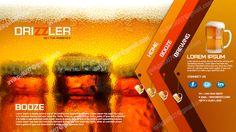 Drizzler is a Beer website design