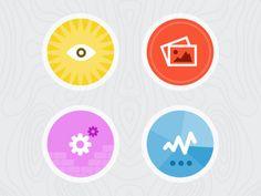 Process graphics  #badge #icon #dribbble
