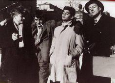 Jack Kerouac, Allen Ginsberg and William Burroughs near Columbia University.