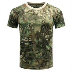 Tactical Camouflage T Shirt Men Army Military SWAT Camo T-shirt Soldier Combat Summer Quick Dry Breathable Hunt Short-sleeve Army Shorts, Military Shorts, Camouflage T Shirts, Military Camouflage, Camouflage Patterns, Army Camo, Camo Shirts, Camo Outfits, Fishing Outfits