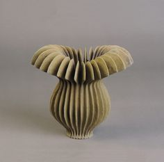 Ursula Morley-Price. Bronze Belled Blade form. stoneware, 2016. 23 x 25 cm. Exhibition for the Galerie de l'Ancienne Poste, France, in November 2016