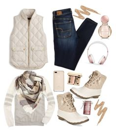 Ootd by southern-mom on Polyvore featuring polyvore, fashion, style, J.Crew, American Eagle Outfitters, Sperry, BP., Beats by Dr. Dre, Urban Decay, Bulgari, Major Moonshine, clothing, Winter, preppy and ootd