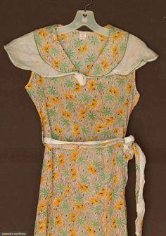 Day Dress, 1930's. Cotton print.