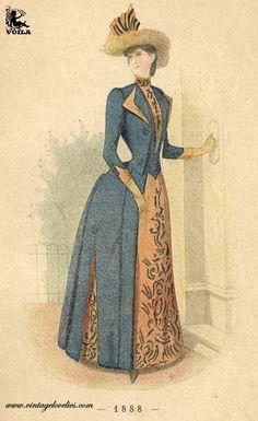 1888 Fashion Plates, Women's Fashion, Painting, Art, Historical Costume, Art Background, Fashion Illustrations, Fashion Women, Kunst
