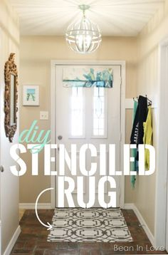 DIY Stenciled Rug for $7 | Bean In Love blog
